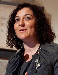 Irina Cattalini speaking at the Commonwealth Foundation relaunch