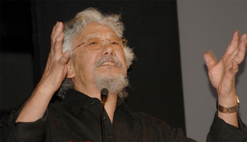 Dr David Suzuki speaking at the 2008 Commonwealth Lecture