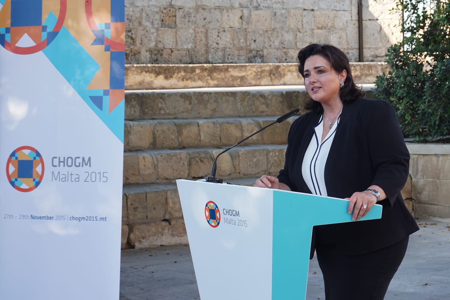 Minister Dr Helena Dalli speaks at the Commonwealth Peoples Forum 2015 launch