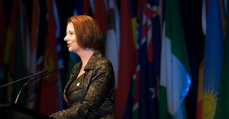Australian Prime Minister Julia Gillard at the 2011 CPF