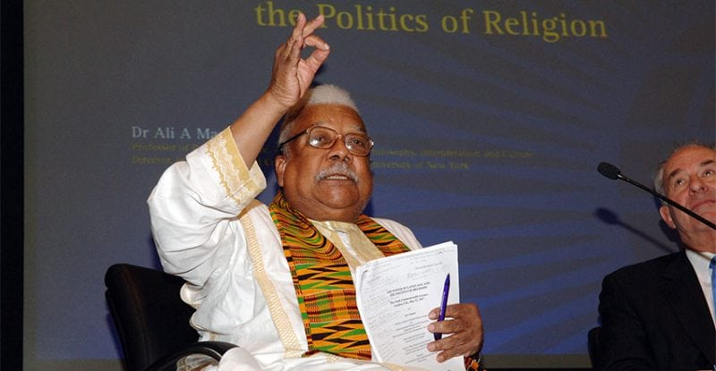 Dr Ali A. Mazrui speaking at the 2007 Commonwealth Lecture