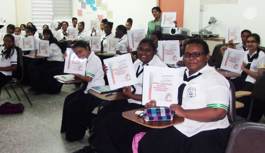 Fostering a democratic culture in schools and local communities in the Caribbean